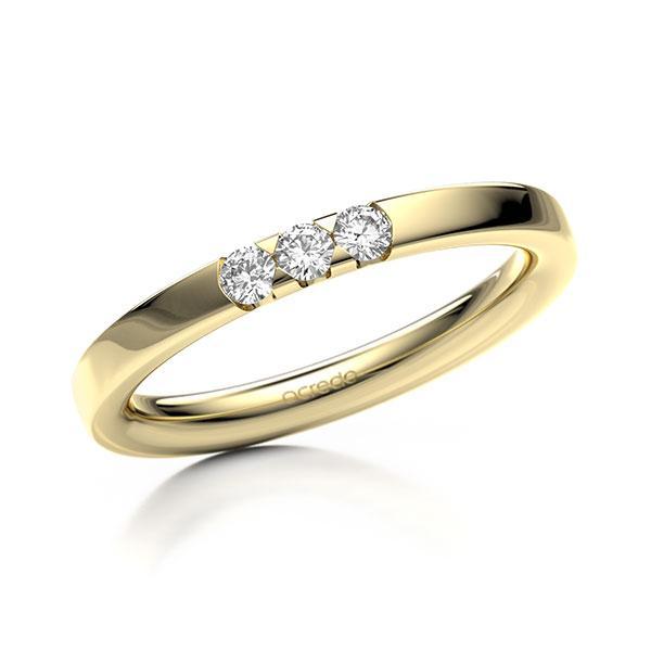 Memoire-Ring Gelbgold 585 mit 0,15 ct. tw, si