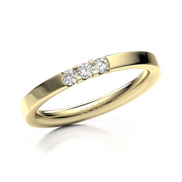 Memoire-Ring Gelbgold 585 mit 0,15 ct. tw, vs