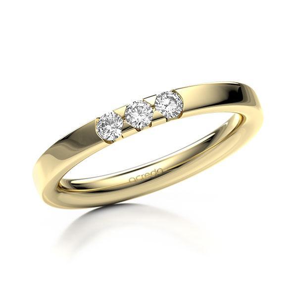 Memoire-Ring Gelbgold 585 mit 0,18 ct. tw, si