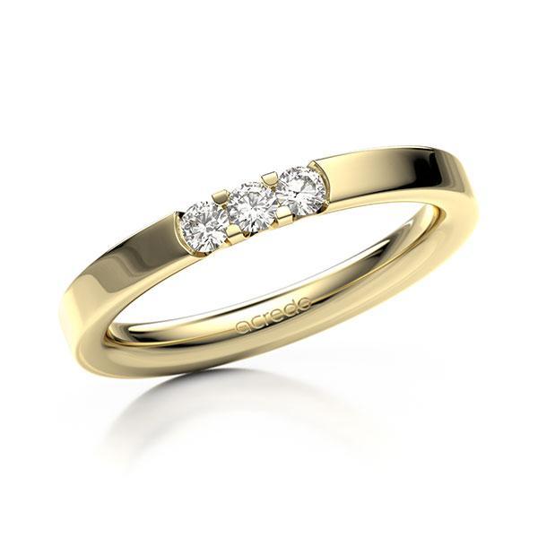 Memoire-Ring Gelbgold 585 mit 0,18 ct. tw, vs