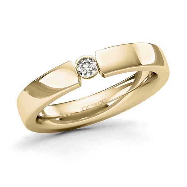 Memoire-Ring Gelbgold 585 mit 0,1 ct. tw, si