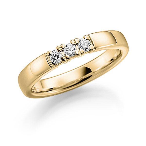 Memoire-Ring Gelbgold 585 mit 0,21 ct. tw, vs