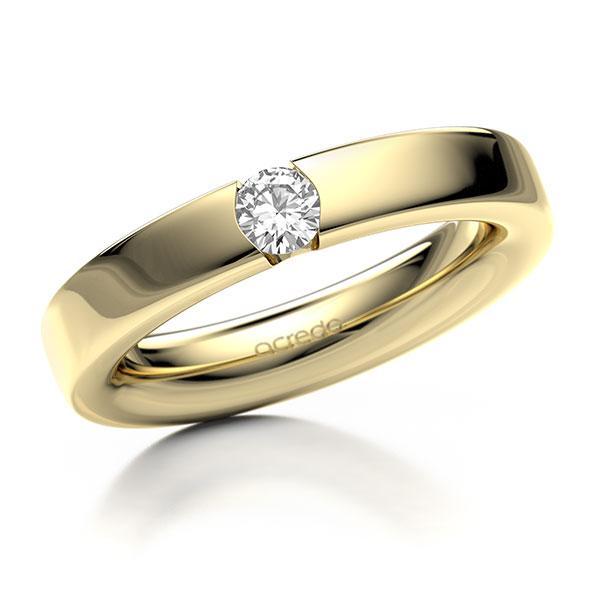 Memoire-Ring Gelbgold 585 mit 0,25 ct. tw, si