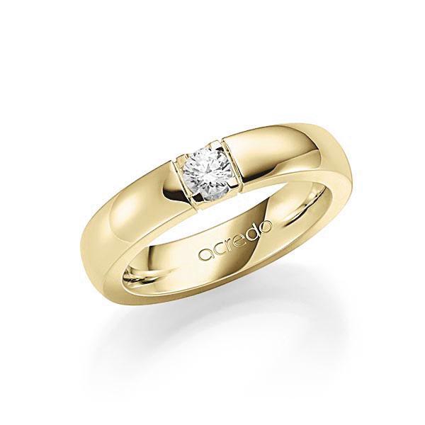 Memoire-Ring Gelbgold 585 mit 0,25 ct. tw, vs