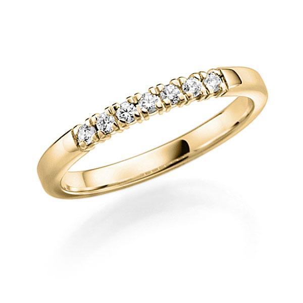 Memoire-Ring Gelbgold 585 mit 0,28 ct. tw, vs
