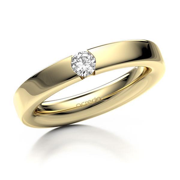 Memoire-Ring Gelbgold 585 mit 0,2 ct. tw, si