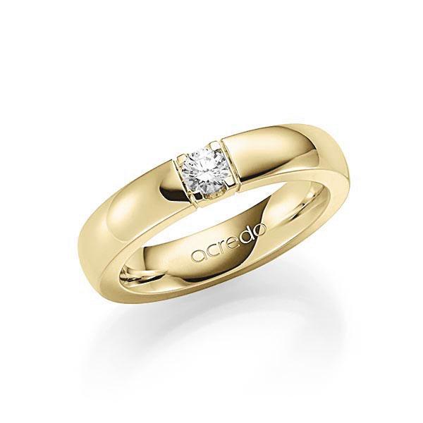 Memoire-Ring Gelbgold 585 mit 0,2 ct. tw, vs