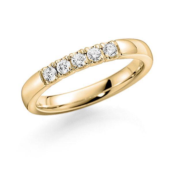 Memoire-Ring Gelbgold 585 mit 0,35 ct. tw, vs
