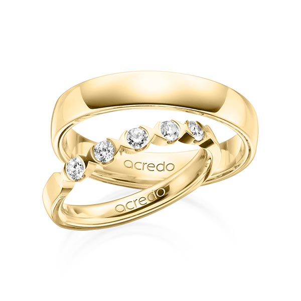 Memoire-Ring Gelbgold 585 mit 0,3 ct. tw, vs