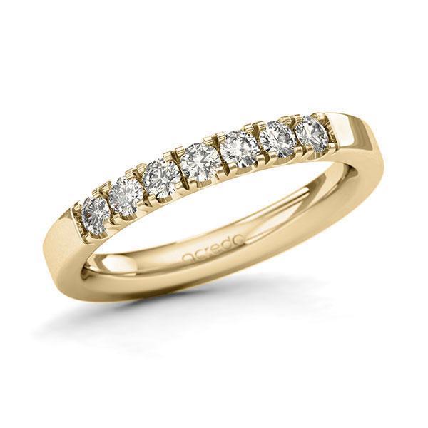 Memoire-Ring Gelbgold 585 mit 0,42 ct. tw, si