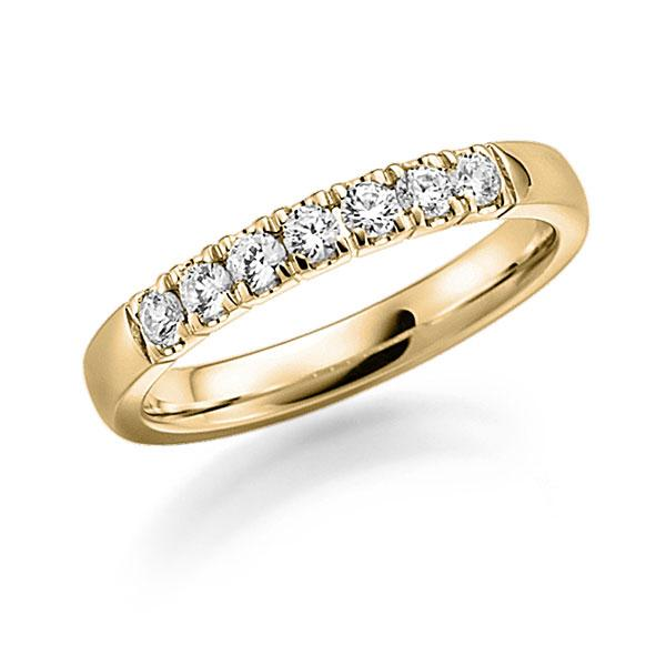 Memoire-Ring Gelbgold 585 mit 0,42 ct. tw, vs