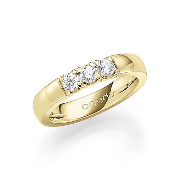 Memoire-Ring Gelbgold 585 mit 0,45 ct. tw, vs