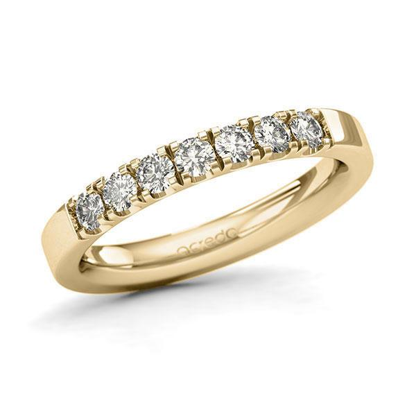 Memoire-Ring Gelbgold 585 mit 0,49 ct. tw, si