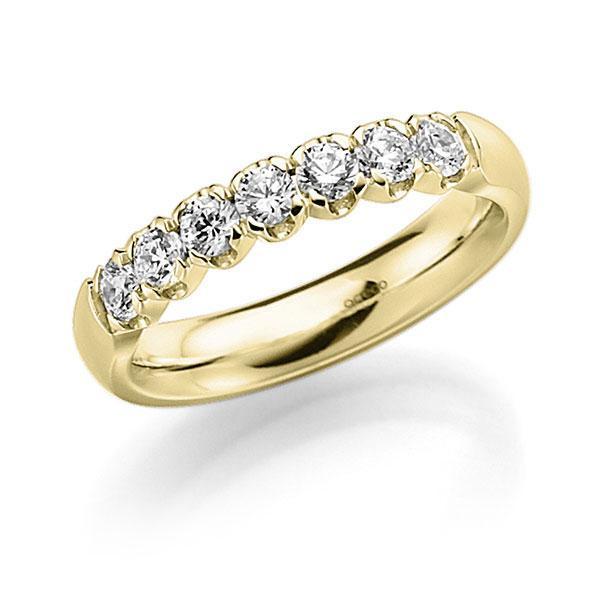 Memoire-Ring Gelbgold 585 mit 0,49 ct. tw, vs