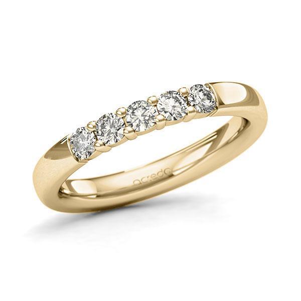 Memoire-Ring Gelbgold 585 mit 0,4 ct. tw, si