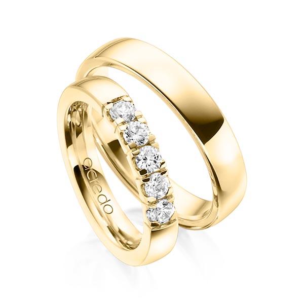 Memoire-Ring Gelbgold 585 mit 0,55 ct. tw, vs