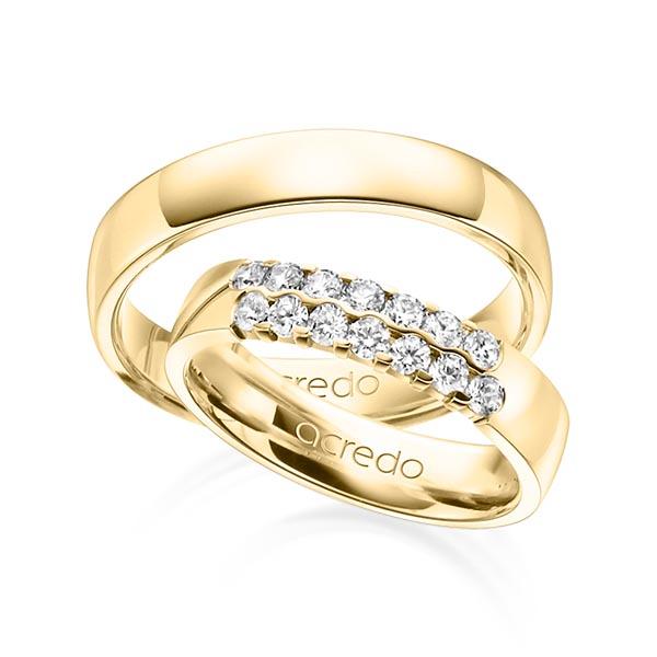 Memoire-Ring Gelbgold 585 mit 0,56 ct. tw, vs