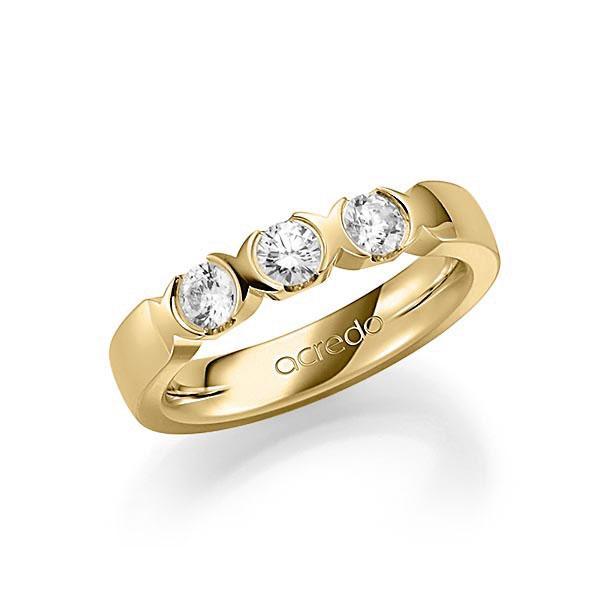 Memoire-Ring Gelbgold 585 mit 0,6 ct. tw, vs