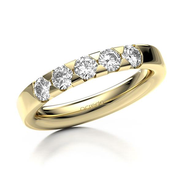 Memoire-Ring Gelbgold 585 mit 0,75 ct. tw, si