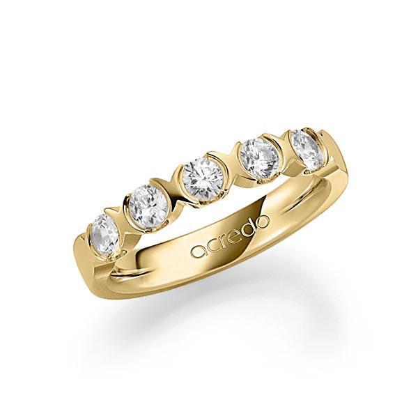 Memoire-Ring Gelbgold 585 mit 0,75 ct. tw, vs