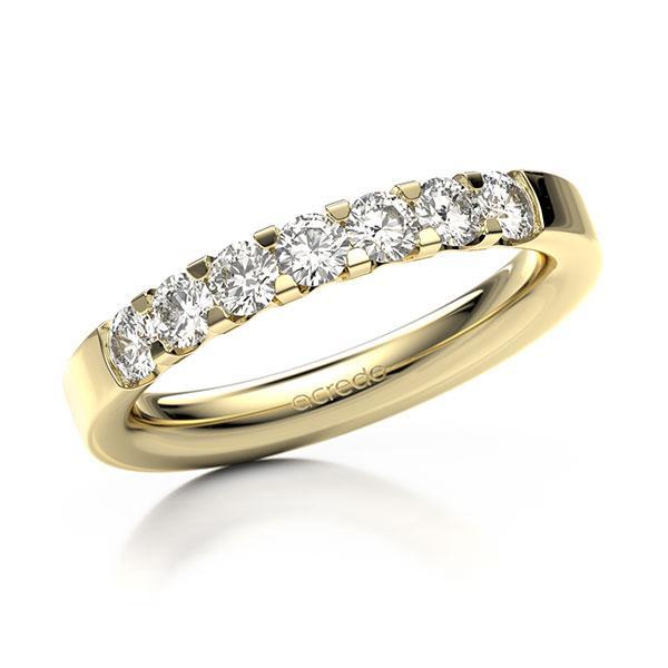 Memoire-Ring Gelbgold 585 mit 0,7 ct. tw, vs