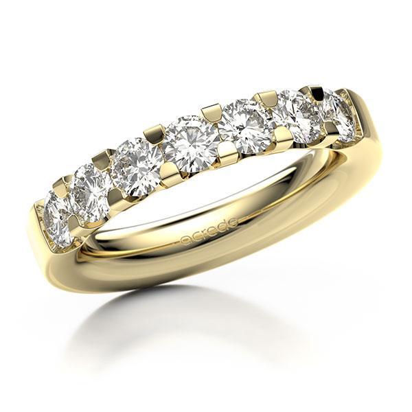 Memoire-Ring Gelbgold 585 mit 1,4 ct. tw, vs