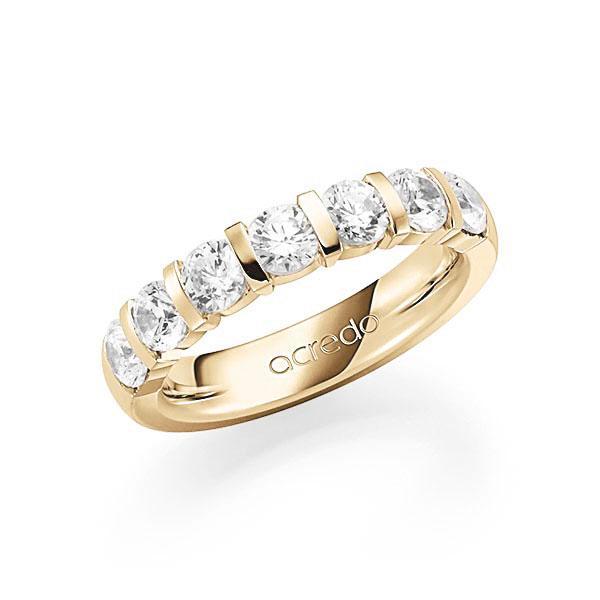Memoire-Ring Gelbgold 585 mit 1,75 ct. tw, vs