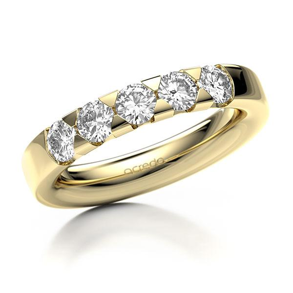 Memoire-Ring Gelbgold 585 mit 1 ct. tw, si