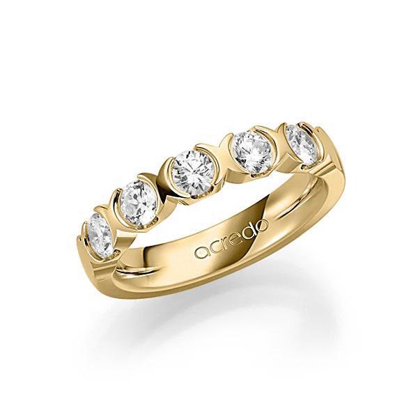 Memoire-Ring Gelbgold 585 mit 1 ct. tw, vs