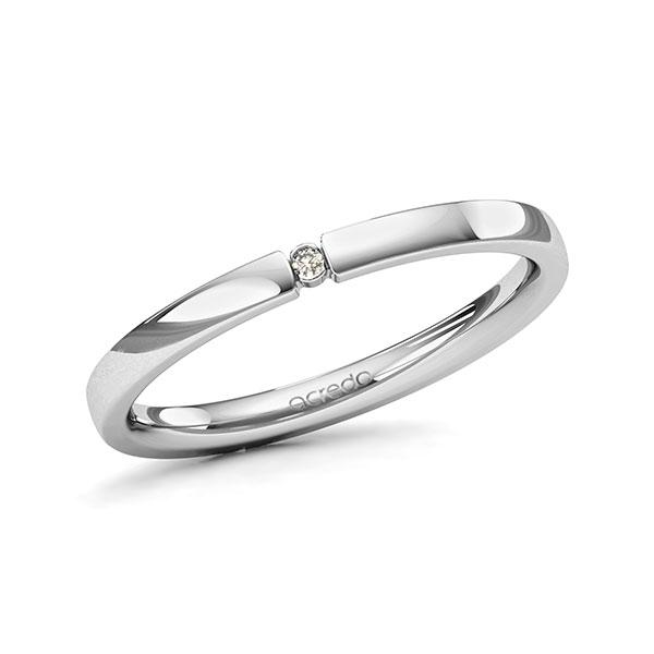 Memoire-Ring Platin 600 mit 0,01 ct. tw, si