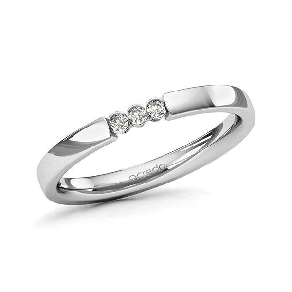 Memoire-Ring Platin 600 mit 0,06 ct. tw, si
