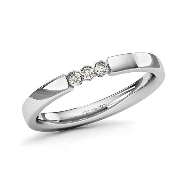 Memoire-Ring Platin 600 mit 0,09 ct. tw, si