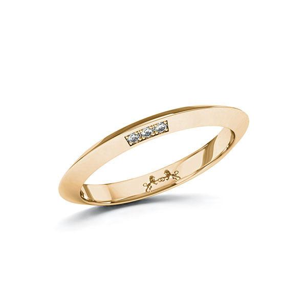 Memoire-Ring Roségold 585 mit 0,03 ct. tw, si