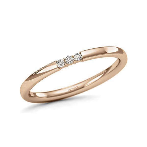 Memoire-Ring Roségold 585 mit 0,045 ct. tw, si