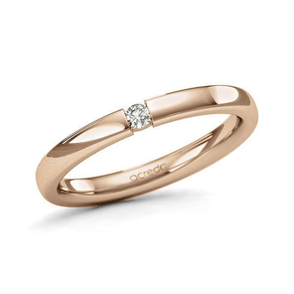Memoire-Ring Roségold 585 mit 0,05 ct. tw, si