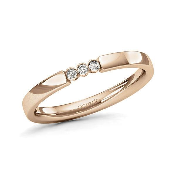 Memoire-Ring Roségold 585 mit 0,06 ct. tw, si
