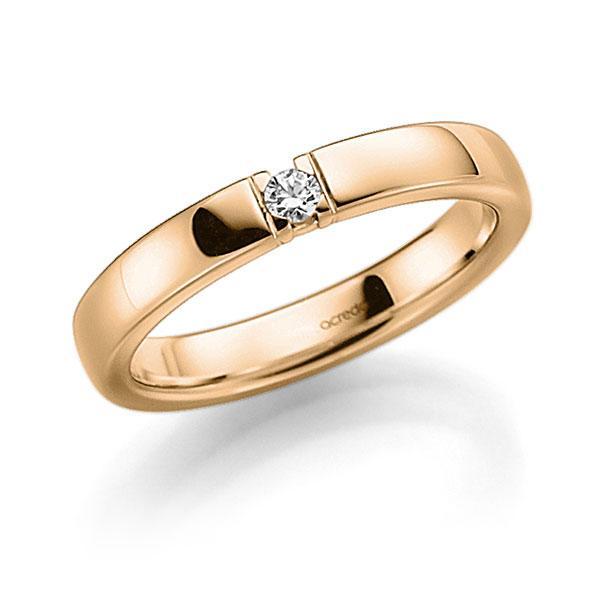 Memoire-Ring Roségold 585 mit 0,06 ct. tw, vs