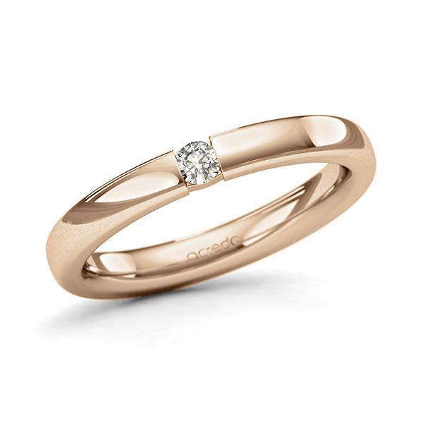 Memoire-Ring Roségold 585 mit 0,08 ct. tw, si