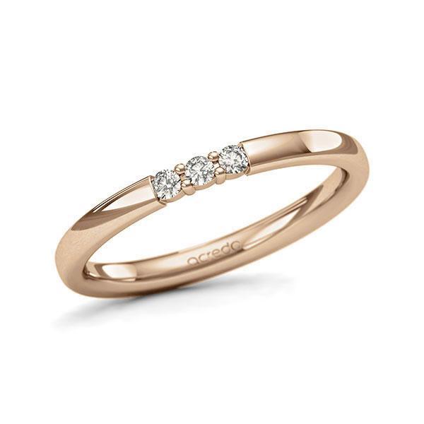 Memoire-Ring Roségold 585 mit 0,09 ct. tw, si