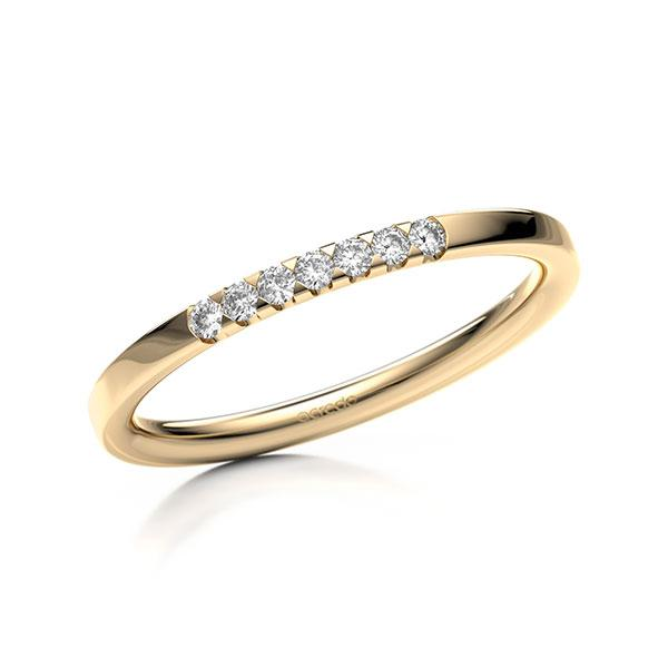 Memoire-Ring Roségold 585 mit 0,105 ct. tw, si