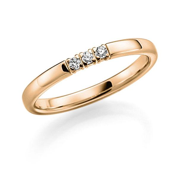 Memoire-Ring Roségold 585 mit 0,12 ct. tw, vs