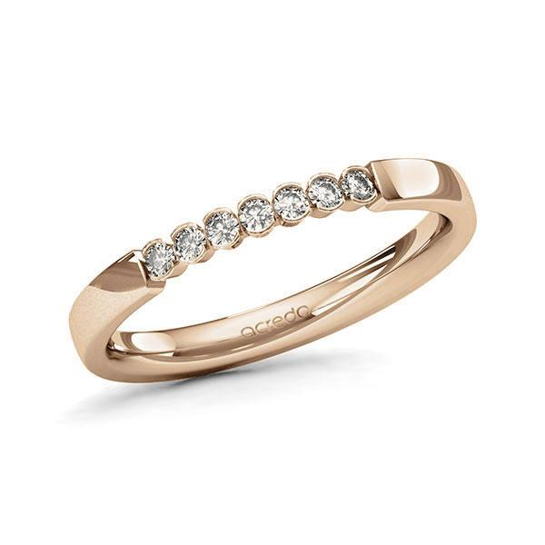 Memoire-Ring Roségold 585 mit 0,14 ct. tw, si