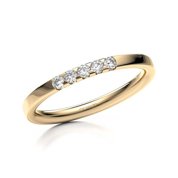 Memoire-Ring Roségold 585 mit 0,15 ct. tw, si