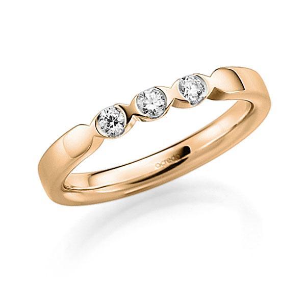 Memoire-Ring Roségold 585 mit 0,18 ct. tw, vs