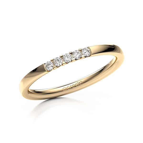 Memoire-Ring Roségold 585 mit 0,1 ct. tw, vs
