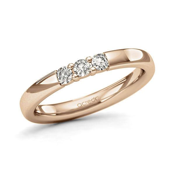 Memoire-Ring Roségold 585 mit 0,21 ct. tw, si