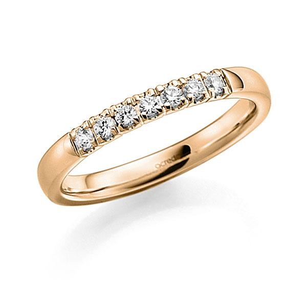 Memoire-Ring Roségold 585 mit 0,21 ct. tw, vs