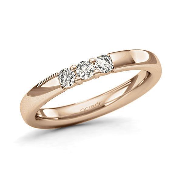 Memoire-Ring Roségold 585 mit 0,24 ct. tw, si