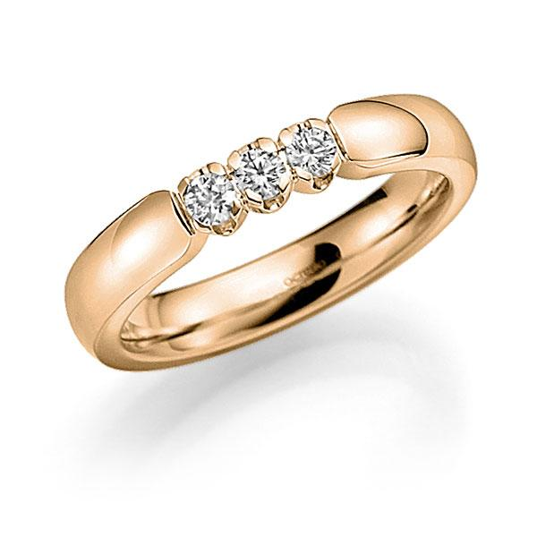 Memoire-Ring Roségold 585 mit 0,24 ct. tw, vs