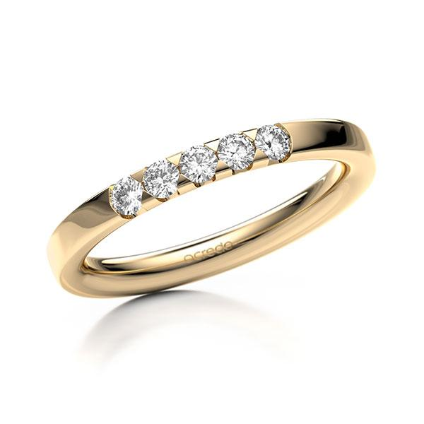 Memoire-Ring Roségold 585 mit 0,25 ct. tw, si